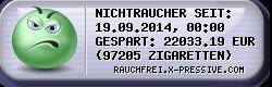 Rauchfrei-Ticker by X-PRESSIVE.COM